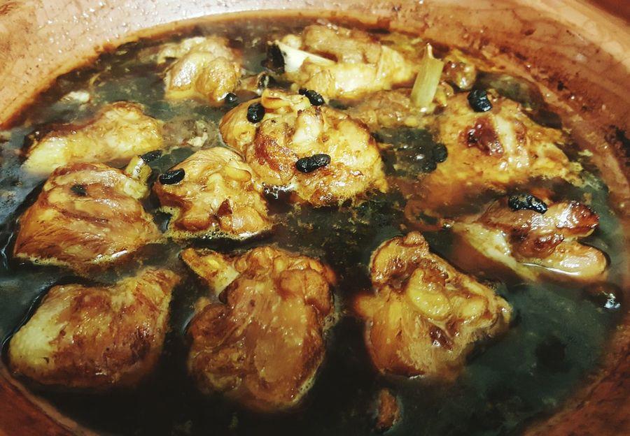 Chicken in blackbean tagine...