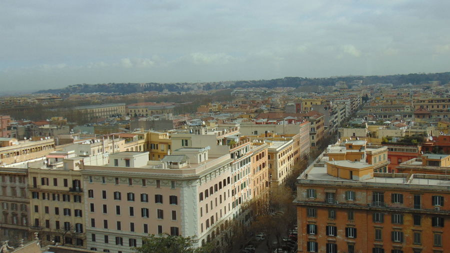 A 'panorama' onto the Streets of Rome. Architecture Building Exterior Built Structure City City City Panorama Cityscape Day House Italy No People Outdoors Panorama Residential Building Rome Rome Panoramic Views Sky