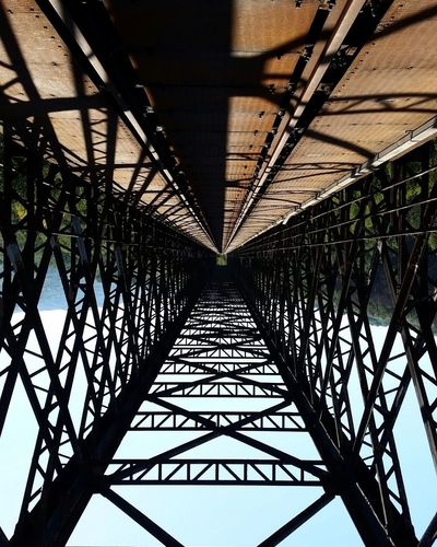 Lost In The Landscape Bridge - Man Made Structure Architecture Built Structure Connection Underneath Day Symmetry No People Outdoors Sky Transportation Ferrovia Ponte Vecchio Avellino Beauty In Nature Adventure Adult People One Person Italy🇮🇹 Connected By Travel Italy❤️ Full Frame Architecture