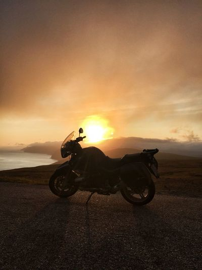 Bike Bmwr850r Road Traveling Adventure Midnight Sun