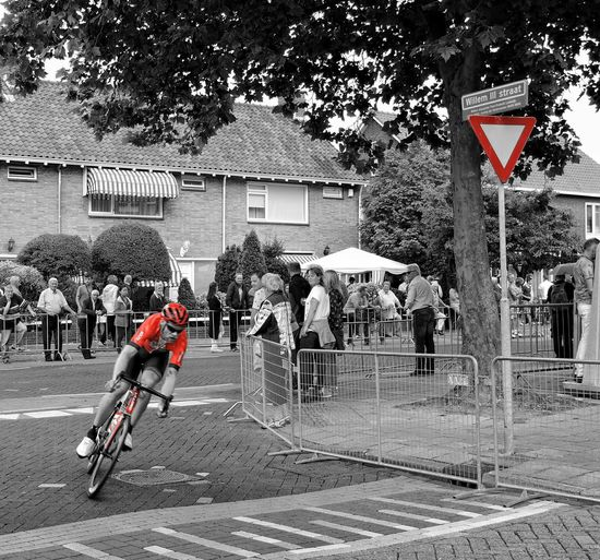 Red Racer Cycling Roadrace Sports The Color Of Sport Red Selective Color Netherlands