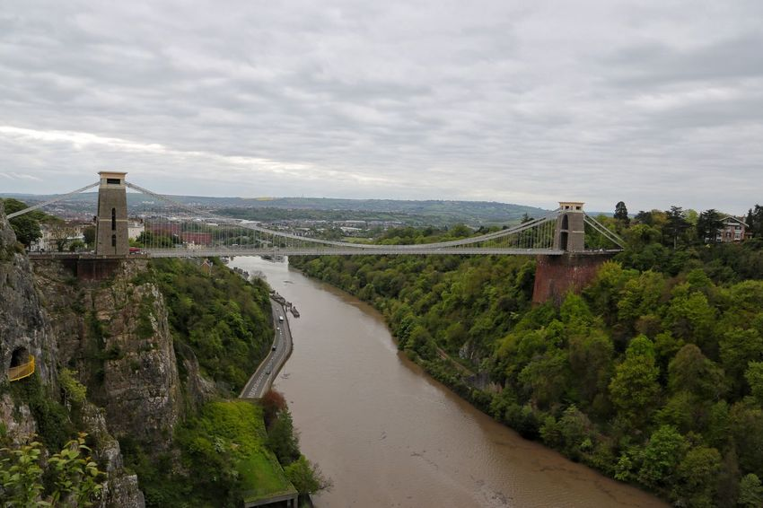 bristol Architecture Beauty In Nature Bridge Bridge - Man Made Structure Bristol Building Exterior Built Structure Cloud - Sky Connection Day High Angle View Mountain Nature No People Outdoors River Road Scenics Sky Suspension Bridge The Way Forward Transportation Travel Destinations Tree Water