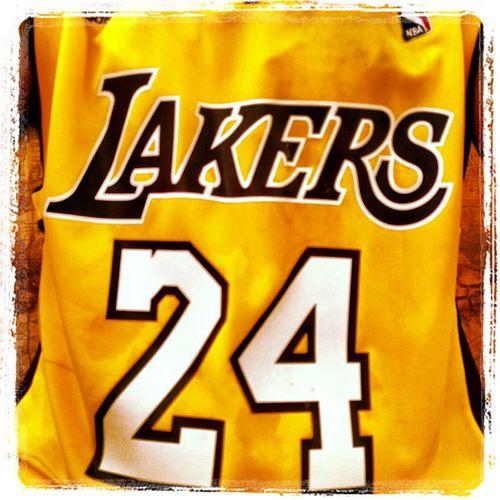 Got my Kobe Jersey on! ???? Kobebryant Blackmamba NBA Lakers basketball morningworkout