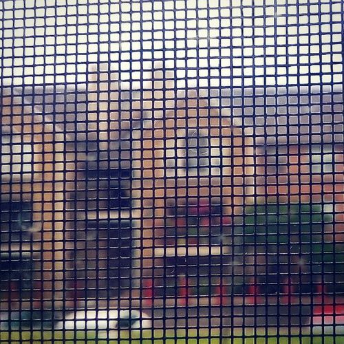 My first Rain at Sanantonio having fun at BentTree clicking through the Window mesh.. mobilePhotography mobileClickPhotography instagood timePass TheBeautifulEverything