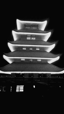 Pagoda. Landmark. Reading,PA. Pagoda Pagoda Building Reading, PA. Reading, Pennsylvania Black And White Blackandwhite Photography I LOVE PHOTOGRAPHY Night Lights Night Photography Outdoor Photography View Top Of The Mountains
