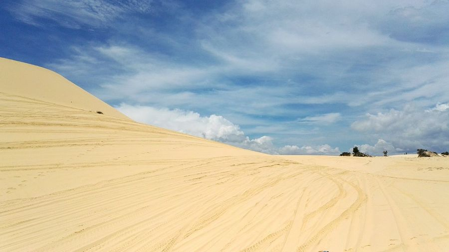 Vietnam EyeEm Selects Sand Dune Desert Arid Climate Beauty Yellow Horizon Sand Summer Gold Colored Accidents And Disasters Sun Sunbeam Sky Only Orange Color Dramatic Sky A New Beginning EyeEmNewHere