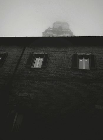 Hide and seek Built Structure House Building Exterior Architecture No People Residential Building Indoors  Day Windows Street Foggy Foggy Morning Focus Object Black And White Hide And Seek Autumn October Sky Taking Photos Contrast Fog Perugia Italy Church Over The Roofs