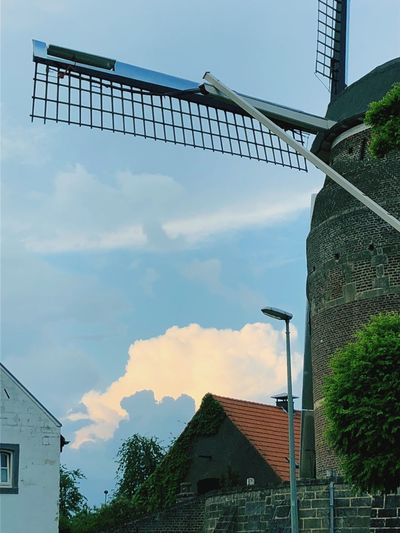Windmills Sky Cloud Windmill Built Structure Nature Low Angle View Brick No People Building
