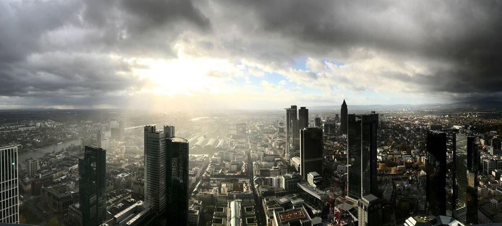 FFM Skyline Iphonephotography IPhoneography Cityscape Skyscraper City Architecture Building Exterior Cloud - Sky Sky