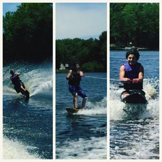 Slalom Wakeboard Kneeboarding Water Lake Funn