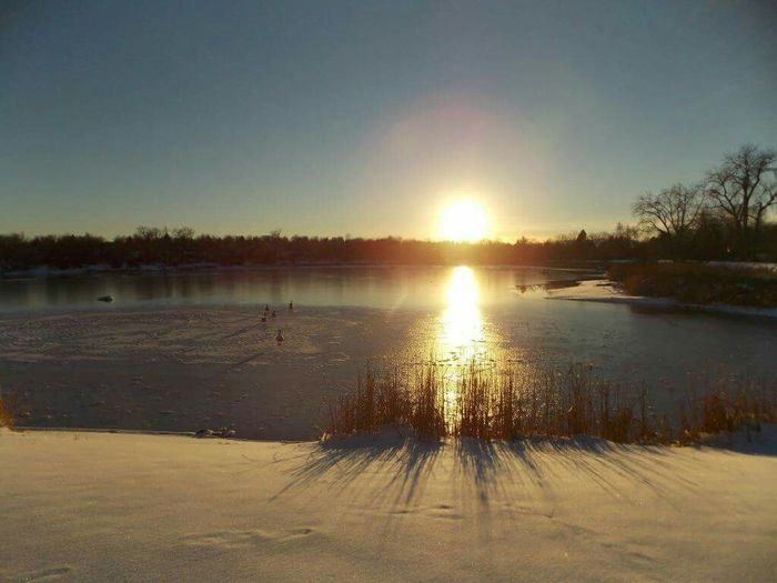 Winter Sunsets Snow Water Reflections Lake Sunset_collection Wintertime My Own Photography Snow Collecton Winter_collection Lakes Collections