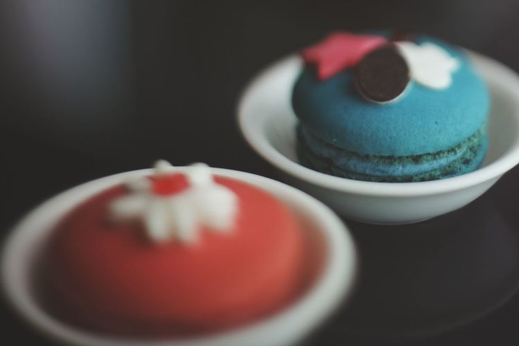 Close-up of cakes in cup