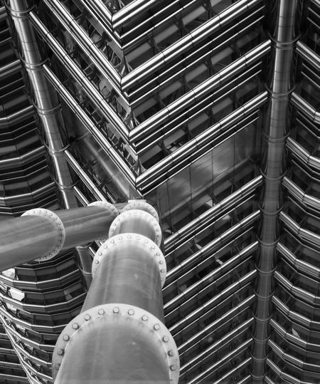 Low angle view of pipes