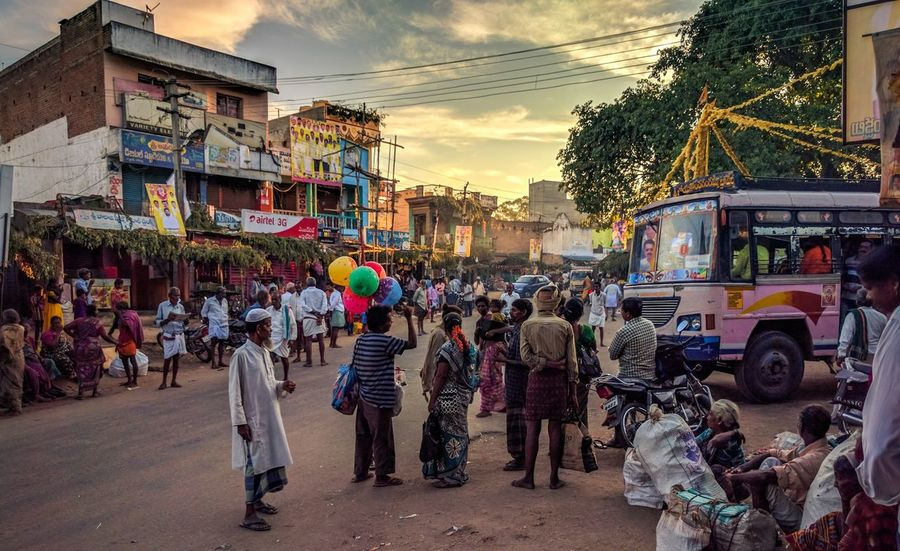 The morning colors in rural India Rural Rural Scene RuralIndia Colors Large Group Of People Chaotic Andhra Andhrapradesh Telugu Morning Warm Warmcolors Crowd India Incredibleindia Incredible India Lightroom Mobile Lightroom Nexus Nexus6P Nexus6pphotography Streetphotography Diversity People