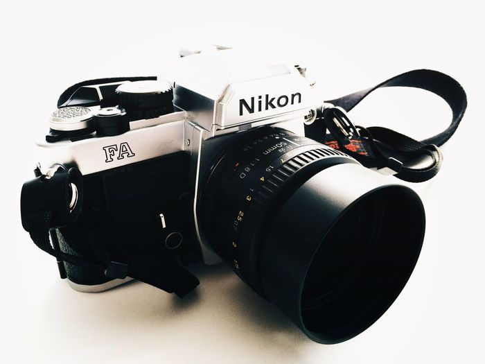 got a new friend... 😉 Nikon FA Film Photography Buy Film Not Megapixels Camera - Photographic Equipment No People White Background Studio Shot Arts Culture And Entertainment Photography Themes Indoors  Close-up Copy Space Analogue Photography