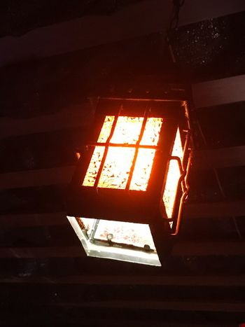 Lantern for a rainy day. Low Angle View Illuminated No People Indoors  Close-up Day