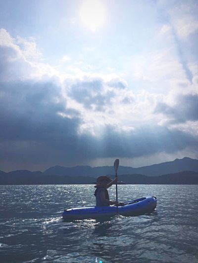 Kayak Kayaking Kayaking In Nature Mountain Water Boat Tranquility Tranquil Scene Asian  Adventure Hat Transportation HongKong Scenics Sea Tourism Non-urban Scene Journey Live For The Story The Great Outdoors - 2017 EyeEm Awards