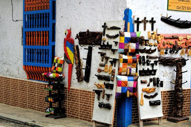Antioquia Colombia Colors El Retiro Folk Pueblo Town Village Art And Craft Handicrafts Artesanias