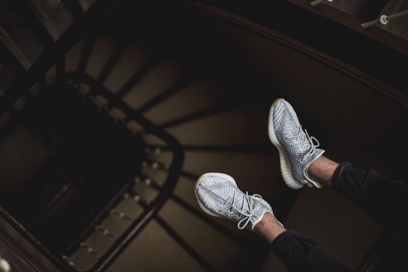 Hang loose Kicks Sneakers EyeEm Selects Shoe Low Section One Person Real People Human Leg High Angle View Human Body Part Personal Perspective Indoors  Body Part Leisure Activity Lifestyles Standing Shadow Human Limb Limb Casual Clothing Men Adult Jeans