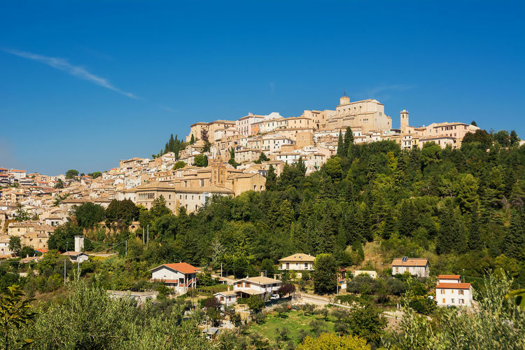 Loreto Aprutino, a medieval town in the province of Pescara (Italy) Abruzzo Loreto Aprutino Village Cityscape Panorama Skyline Italy Medieval Town Historic Building Exterior Outdoors TOWNSCAPE No People