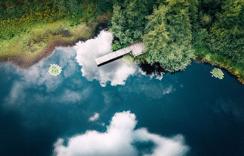 DJI Mavic Pro Drone  VSCO Beauty In Nature Cloud - Sky Day Green Color High Angle View Lake Nature No People Outdoors Plant Reflection Sea Standing Water Swimming Pool Tranquil Scene Tranquility Tree Turquoise Colored Water Waterfront White Color