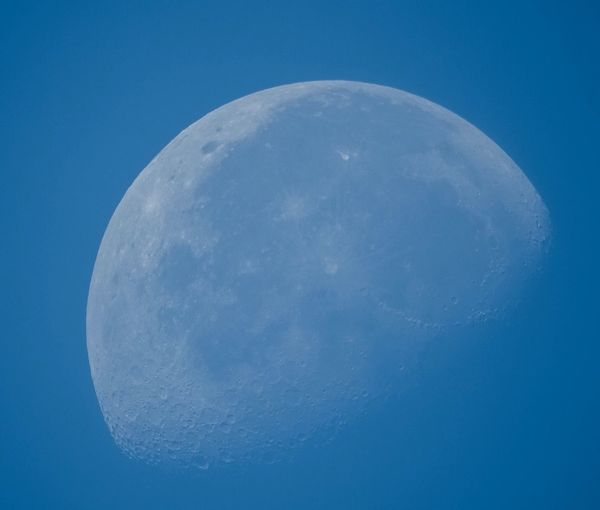 Moon Moon Surface Planetary Moon Nature Beauty In Nature Clear Sky No People Low Angle View Night Tranquility Outdoors Scenics Close-up Space Exploration Sky Space Half Moon Satellite View The moon in the morning