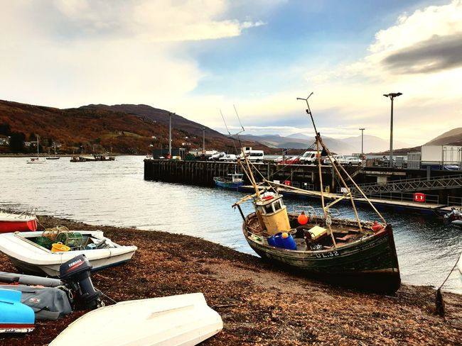Day Ullapool Highlands Of Scotland Water Nautical Vessel Sea Beach Harbor Moored Sky Cloud - Sky Mast Marina Water Vehicle Dock Port Fishing Boat