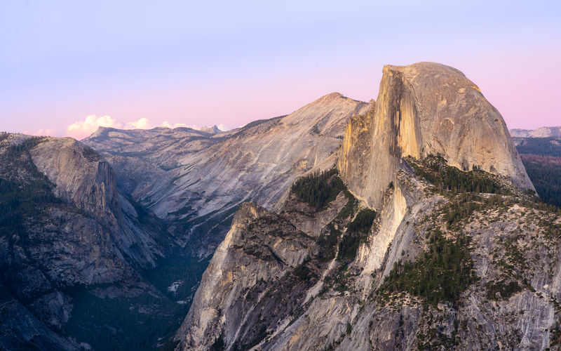 Dramatic sunset from glacier point