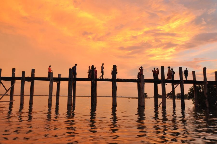Ubeinbridge Mandalay Sunset