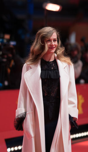 Berlin, Germany - February 24, 2018: Belgian actress Cecile de France attends the closing ceremony during the 68th Berlinale International Film Festival Berlin at Berlinale Palast AWARD Closing Ceremony Film Festival Portrait Of A Woman Woman Actress Arts Culture And Entertainment Beautiful Woman Belgian  Berlinale Berlinale 2018 Berlinale Festival Berlinale2018 Cecile De France Entertainment Entertainment Event Long Hair Looking At Camera Mass Media One Person Portrait Posing Posing For The Camera Red Carpet Red Carpet Event