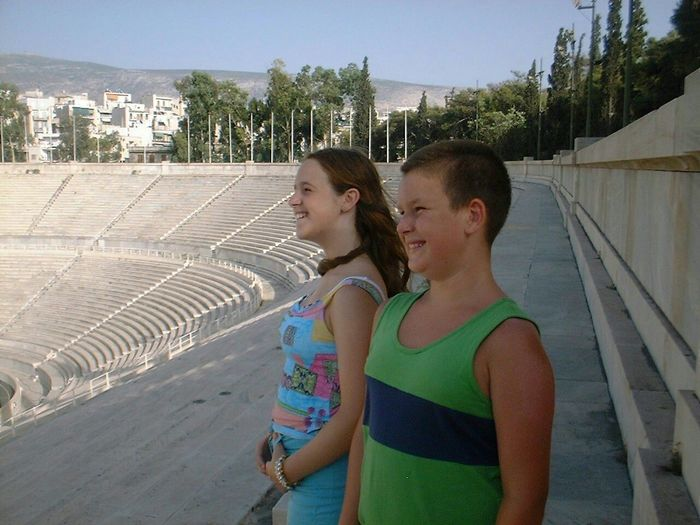 Kallimarmaron (Καλλημάρμαρον) Olympic Stadium Olympic Stadium Olympic Games Athletic Venue Cultural Heritage Cultural Monument Athens, Greece Aug 2000