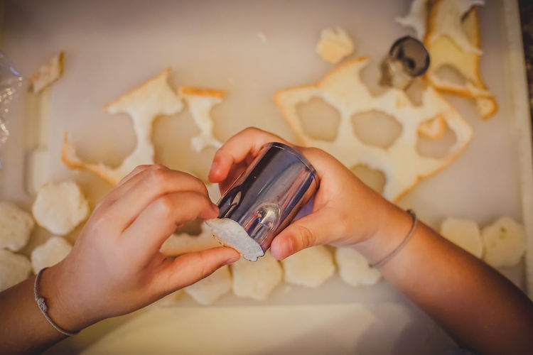 kid stamp on bread by self. Adult Bread Child Childhood Communication Finger Hand Holding Human Body Part Human Hand Indoors  Leisure Activity Lifestyles Making Mobile Phone One Person Preparation  Real People Smart Phone Stamping Technology Wireless Technology Women The Still Life Photographer - 2018 EyeEm Awards