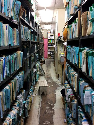 Pink Pink Color Shelf Abundance Choice Variation Large Group Of Objects Indoors  In A Row No People Blue Sheets Row Job Work Employees Employment Work Day Day Paper Alone Locker Security Secure Administrative Secretary