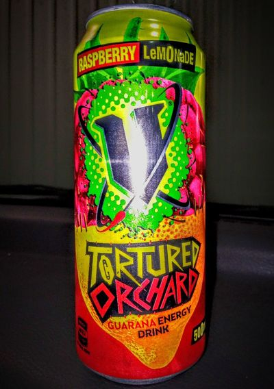 EnergyDrinkCans Energydrink Colour Guarana Energy Drinks Guarana Check This Out Western Script Taking Photos Colors Colorful MultipleColours MultipleColors Tortured Torture Drink Aluminum Aluminium Tortured Orchard Energy Drink V Energy Drink Raspberry Lemonade Raspberrylemonade V Close-up Multi Colored Text