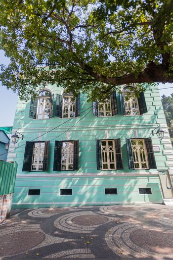 Taipa Old Village is a historical part of Taipa is best preserved in this village in the south of the district. Architecture ASIA Building Exterior Built Structure China City Day Low Angle View Macao  Macau No People Outdoors Sky Sunlight Taipa  Taipa Village Tree