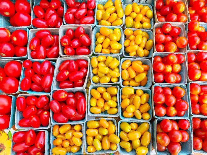 Full frame shot of fruits in market for sale