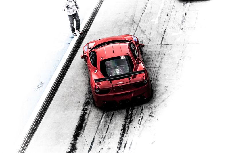 Abstract Car Cars Ferrari Nurburgring Overhead View Racecar Racing Racing Car Road Top Perspective Transportation Vehicle