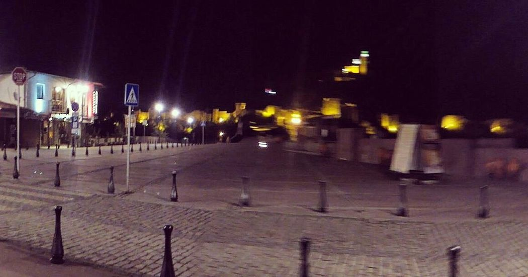 Night Walks Lights Tsarevets Panoramic Photography