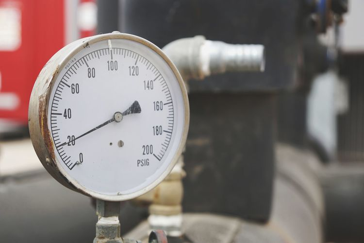 Gauge Pressure Gauge Business Finance And Industry Close-up Meter - Instrument Of Measurement Manufacturing Equipment