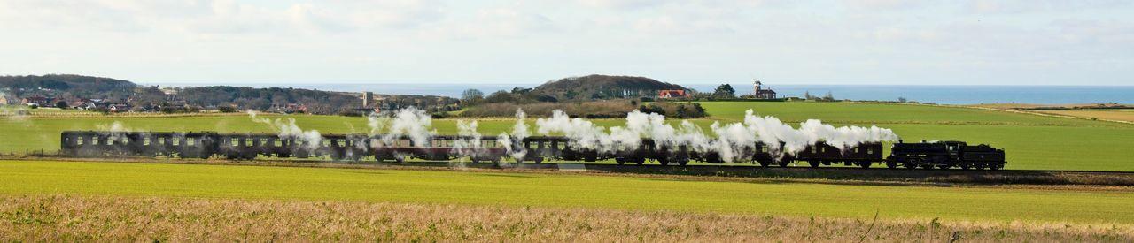 By Gone Landscape NNR Norfolk Railway Rail Travel  Steam Steam Train Yesterday