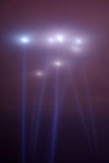 Full frame shot of illuminated lights at night