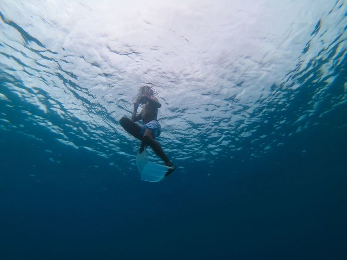snorkeling UnderSea Scuba Diving Swimming Sea Life Water Sea Underwater Full Length Adventure Aquatic Sport Snorkeling