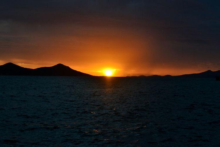 New Caledo Sea And Sky Sky Sun Sunset