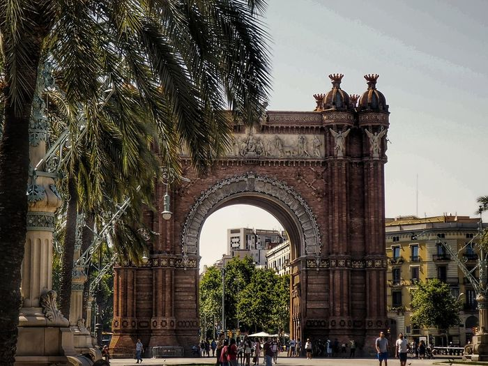 "Barcelona's ""Arco di Trionfo"" Arch Architecture Travel Destinations Built Structure History Building Exterior Triumphal Arch Low Angle View Sculpture People Day Scenics Travel Architecture"