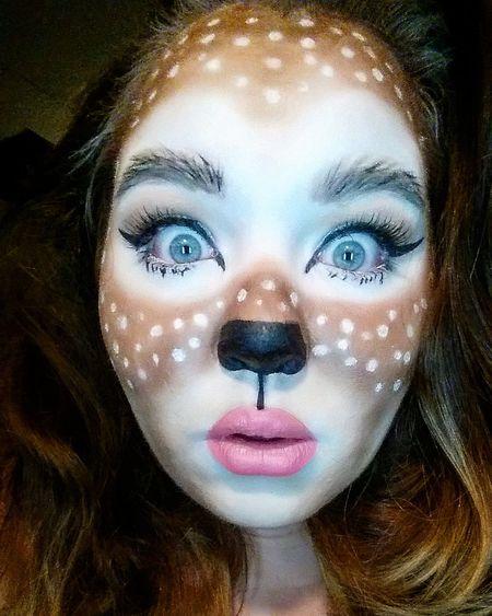 Halloweenmakeup Mehron Deerintheheadlights Deer Makeup Selfie ✌