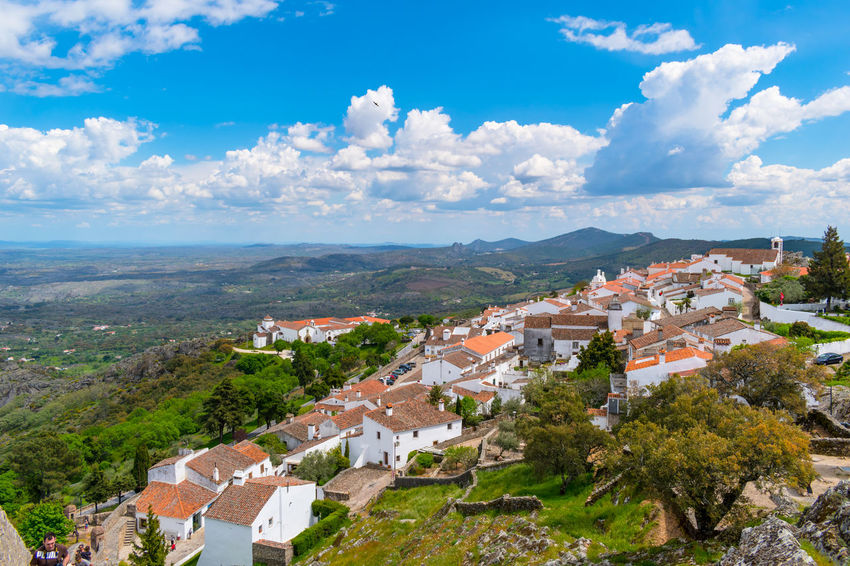 castelo de marvão Architecture Beauty In Nature Building Building Exterior Built Structure City Cityscape Cloud - Sky Community Day Environment High Angle View House Landscape Nature No People Outdoors Plant Residential District Roof Sky Town TOWNSCAPE Tree