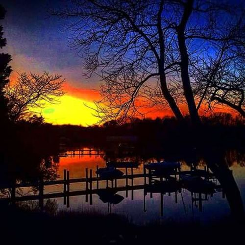 California MD Serenity Beautiful Colors Sunset Lovers Water Reflections My Backyard View