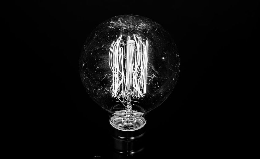 Frankenstein 2 B&w B&w Photography Black & White Black And White Black And White Photography Black Background Bulb Close-up Electricity  Filament Illuminated Light Light Bulb No People