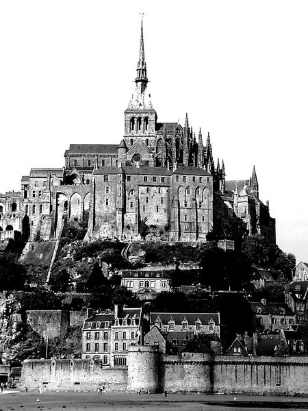 Black And White Friday Le Mont-Saint-Michel History Architecture Building Exterior Built Structure Outdoors No People Day City King - Royal Person Sky Go Higher