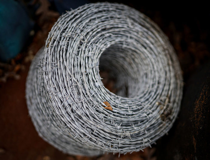 Close-up of spiral rope